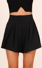 Midnight Light shorts in black