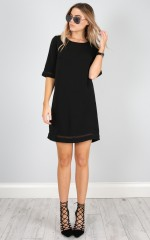 Miss Independent dress in  black