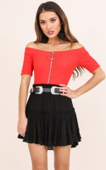 Mod Muse top in red