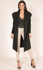 New Yorks Calling coat in black