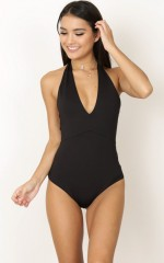 Night Swim bodysuit in black