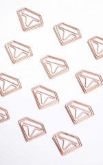 Diamond Dream 12pc paperclips in rose gold