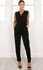 Workaholic jumpsuit in black