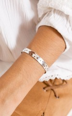 Please Dont Go bracelet in silver