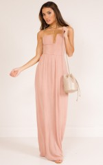 Putting It On maxi dress in blush