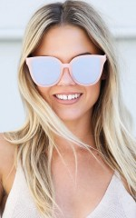 Quay - Paradiso sunglasses in pink and silver