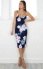 Rag Doll dress in navy floral