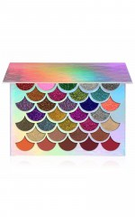 Rainbow Mermaid Glitter Palette