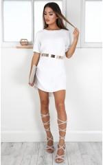 Way It Is shift dress in white