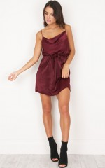 Rialto Dress in Wine