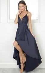 Rich Girl Maxi dress in  navy