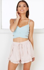 Rum And Ruffles shorts in blush