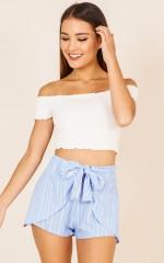 Santa Barbara shorts in blue stripe