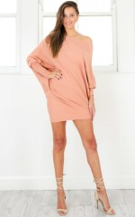 Search and Destroy knit dress in blush
