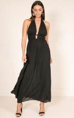 See You Later maxi dress in black