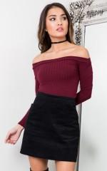 Too Good skirt in black corduroy