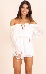 Soak Up The Sun playsuit in white