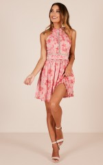 Ballet Dancer dress in pink floral
