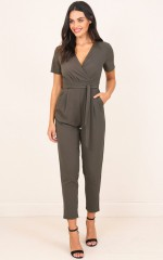 Standing Ground Jumpsuit in Olive