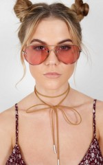Stare Down sunglasses in silver and pink