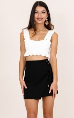 Stay With Me crop top in white