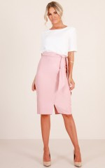 Step Aside Skirt in blush