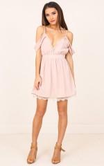 Stick Up dress in blush