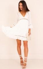 Still Got Time dress in white