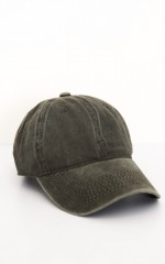 Stranger Danger Hat in khaki denim