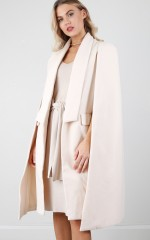 Stronger Than Ever cape coat in cream