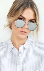 Sunblock sunglasses in silver