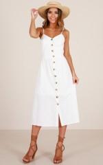 Sunrise Lover dress in white