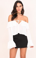 Superstition Top in White