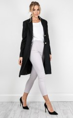 Take On The World coat in black