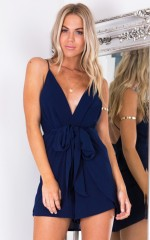 Together Again playsuit in navy