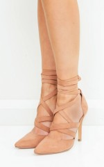 Therapy Shoes - Bella in musk faux suede