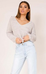 Thick As Thieves knit top in beige