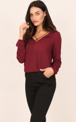 This Sweet Love top in wine