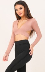Tighten Up crop top in mocha