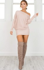 Time Turner Knit Dress in mocha