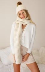 Terrain scarf in beige