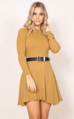 Other Basics dress in mustard