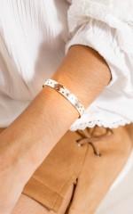 Please Dont Go bracelet in silver
