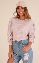 Daylight knit in mocha stripe