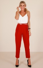 Escalate Pants in Red