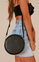 Never Too Late bag in black