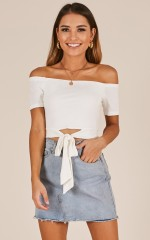 Sashed and Relaxed top in white