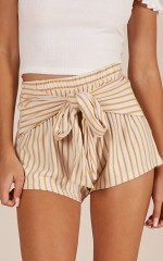 Little Innocent shorts in yellow stripe