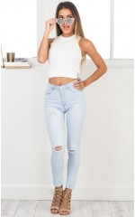 Ashley skinny jeans in light wash denim
