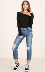 Sabina jeans in mid wash denim